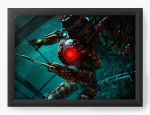 Quadro Decorativo BioShock - The Big Daddy - Nerd e Geek - Presentes Criativos