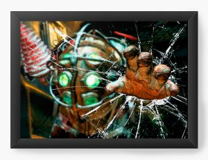 Quadro Decorativo A4 (33X24) Games - BioShock - Nerd e Geek - Presentes Criativos