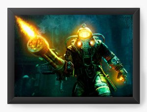 Quadro Decorativo Big Daddy in Bioshock - Nerd e Geek - Presentes Criativos