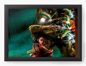 Quadro Decorativo Bioshock - Big Daddy protector - Nerd e Geek - Presentes Criativos