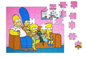 Quebra-Cabeça Familia Simpsons 90 pçs - Nerd e Geek - Presentes Criativos