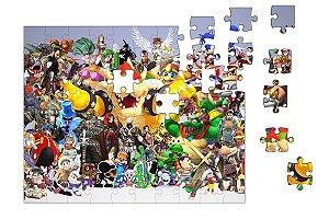 Quebra-Cabeça Super Mario, Sonic, Pikachu 90 pçs - Nerd e Geek - Presentes Criativos