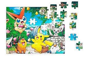 Quebra-Cabeça Pokemon - Pikachu 90 pçs - Nerd e Geek - Presentes Criativos
