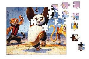 Quebra-Cabeça Kung Fu Pandar 90 pçs - Nerd e Geek - Presentes Criativos
