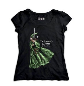 Camiseta Feminina The Legend of Presto - Nerd e Geek - Presentes Criativos