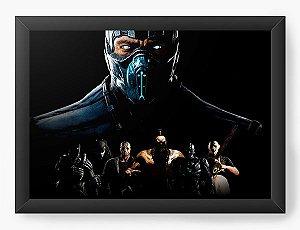 Quadro Decorativo Mortal Combate X - Nerd e Geek - Presentes Criativos