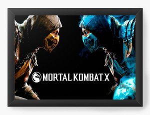 Quadro Decorativo Mortal Kombat X - Nerd e Geek - Presentes Criativos