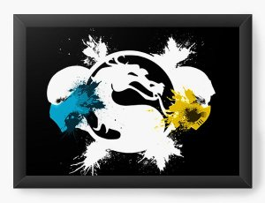Quadro Decorativo Mortal Kombat X symbol - Nerd e Geek - Presentes Criativos