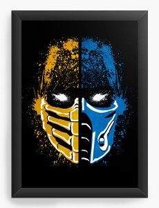 Quadro Decorativo Mortal Kombat X Two Sides - Nerd e Geek - Presentes Criativos