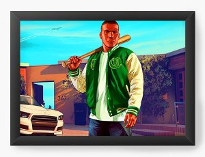 Quadro Decorativo GTA - Nerd e Geek - Presentes Criativos