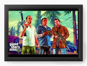 Quadro Decorativo Grand Theft Auto Five - Nerd e Geek - Presentes Criativos
