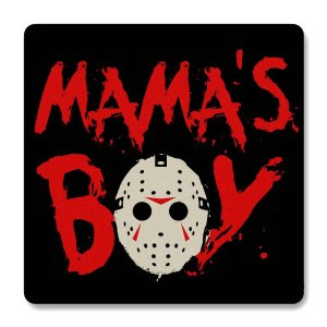 Imã de Geladeira Jason - Mama's Boy - Nerd e Geek - Presentes Criativos