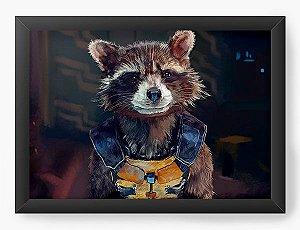 Quadro Decorativo Guardiões da Galáxia vol. 2 Rocket Raccoon
