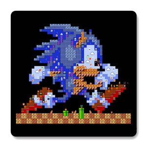 Imã de Geladeira Sonic - Nerd e Geek - Presentes Criativos