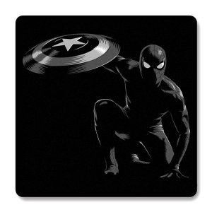 Imã de Geladeira Homem Aranha - Escudo do Capitão America
