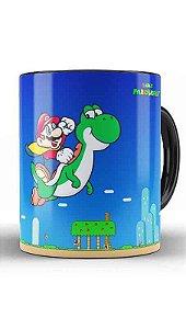 Caneca Super Mario e Yoshi