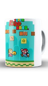 Caneca Super Kidd Bros - Nerd e Geek - Presentes Criativos