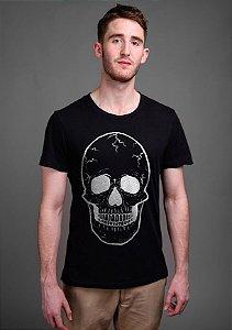Camiseta Masculina  Skull Ghost - Nerd e Geek - Presentes Criativos
