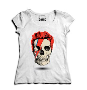 Camiseta Feminina Skull Style - Nerd e Geek - Presentes Criativos