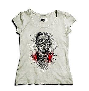 Camiseta Feminina Frankenstein - Nerd e Geek - Presentes Criativos