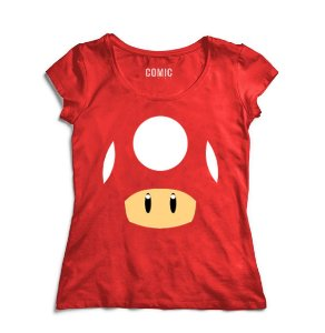 Camiseta Feminina Super Mario - Life