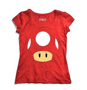 Camiseta Feminina Super Mario - Life - Nerd e Geek - Presentes Criativos