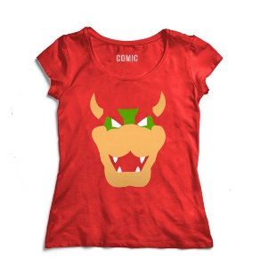 Camiseta Feminina Super Mario Bowser - Nerd e Geek - Presentes Criativos