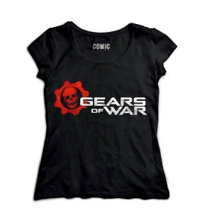 Camiseta Feminina Gears of War - Nerd e Geek - Presentes Criativos