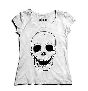 Camiseta Feminina Skull Laugh