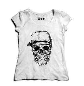 Camiseta Feminina Skull Super stylish - Nerd e Geek - Presentes Criativos