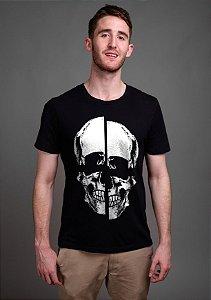 Camiseta Masculina  Caveira - Nerd e Geek - Presentes Criativos