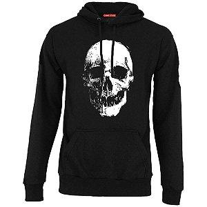 Blusa com Capuz Skull Dark