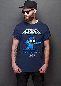 Camiseta Masculina  Mega Man - Nerd e Geek - Presentes Criativos