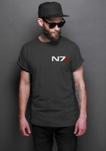 Camiseta Masculina  Mass Effect - Nerd e Geek - Presentes Criativos
