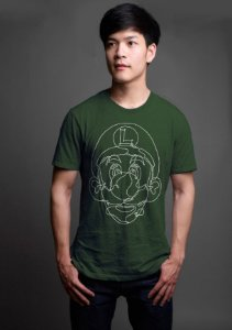 Camiseta Masculina  Luigi - Nerd e Geek - Presentes Criativos