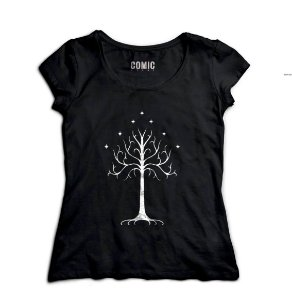 Camiseta Feminina Lord Of The Rings - Nerd e Geek - Presentes Criativos