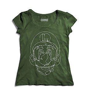 Camiseta Feminina Luigi - Nerd e Geek - Presentes Criativos