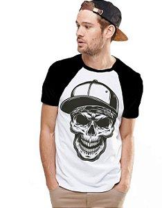 Camiseta Raglan King33 Skull Fashion - Nerd e Geek - Presentes Criativos