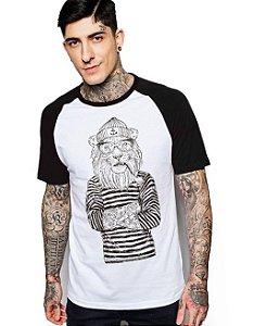 Camiseta Raglan King33 Leão Pirata