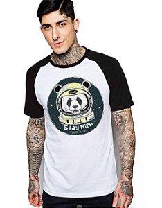 Camiseta Raglan King33 Urso Astronauta - Nerd e Geek - Presentes Criativos