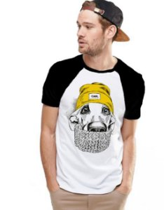 Camiseta Raglan King33 Dog Gringo - Nerd e Geek - Presentes Criativos