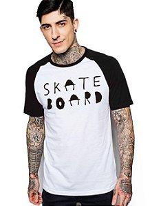 Camiseta Raglan King33 Skate Boad SK - Nerd e Geek - Presentes Criativos