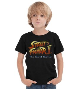 Camiseta Infantil Street Fighter - Nerd e Geek - Presentes Criativos