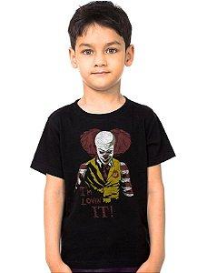 Camiseta Infantil Palhaço Lovin - Nerd e Geek - Presentes Criativos