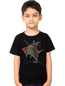 Camiseta Infantil Darth Vader e Jurrasic