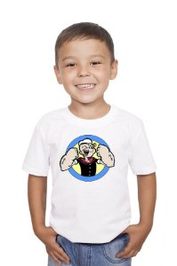 Camiseta Infantil Marinheiro Popeye - Nerd e Geek - Presentes Criativos