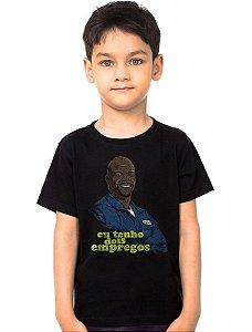Camiseta Infantil Julius - Eu tenho dois empregos