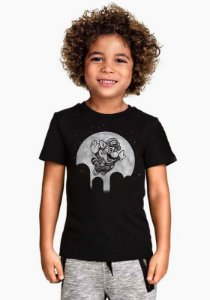 Camiseta Infantil Super Mario Night - Nerd e Geek - Presentes Criativos