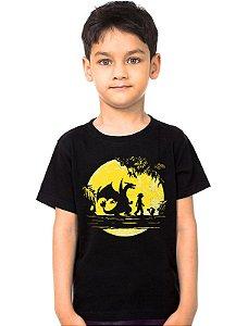 Camiseta Infantil Pokemon - Ash e Pikachu - Nerd e Geek - Presentes Criativos