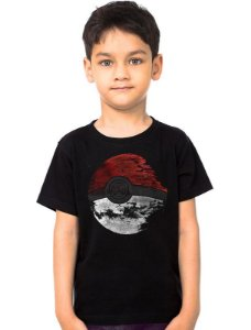 Camiseta Infantil Pokemon Estrela da Morte - Nerd e Geek - Presentes Criativos